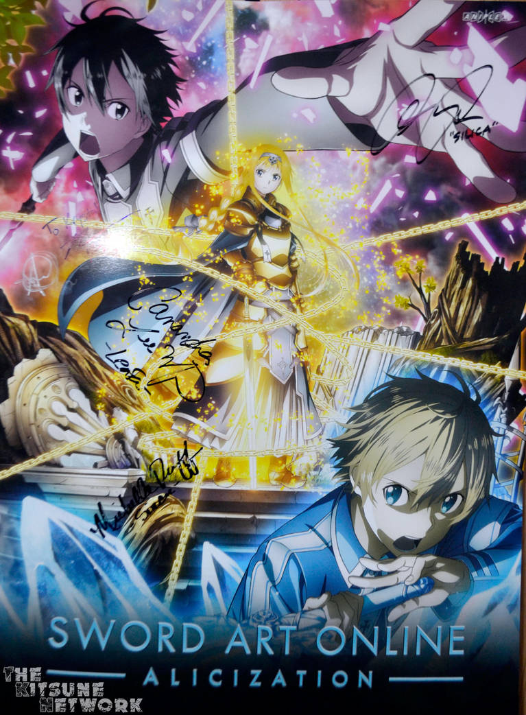 Sword Art Online - Alicization signed poster by xxXSketchBookXxx