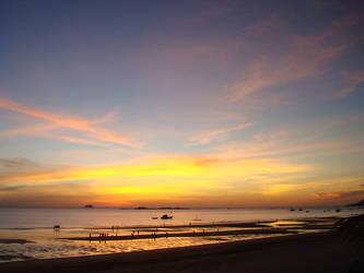 Vietnamese Beach in Sunrise by geruk