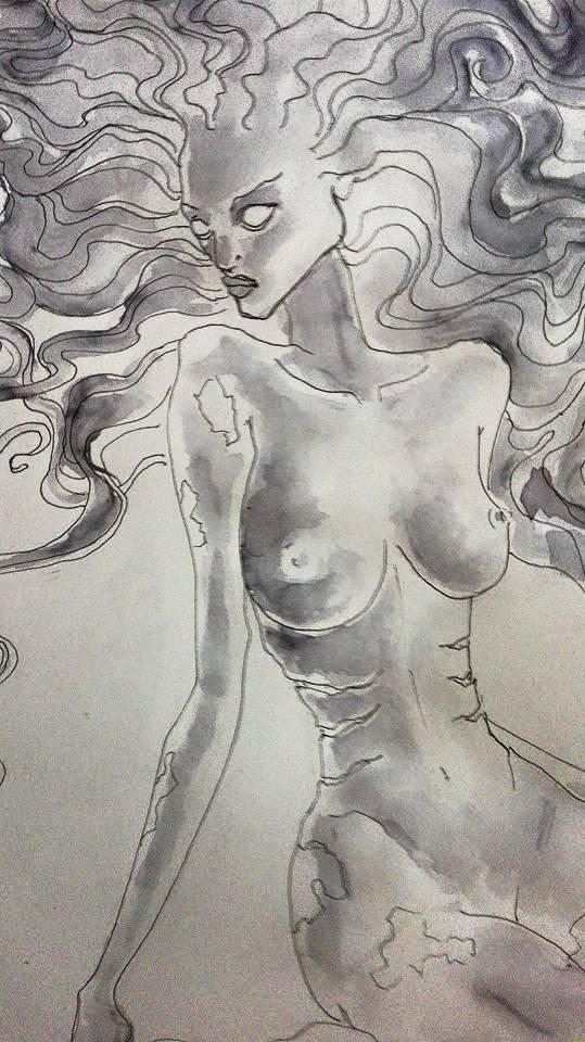 mermaid by EdhelMoth