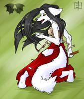 Kyubi Amaterasu 02 by Kimahri-Ronso