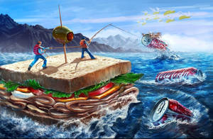 Sandwich Fishing by killingspr