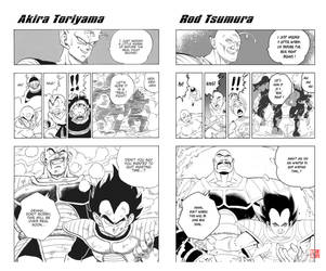 Dragon Ball page Remake Comparison by RodTsumura