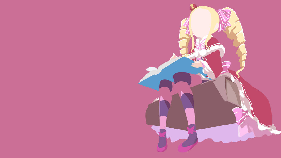 Beatrice (Rezero) Minimalist Wallpaper V2 by Yuki-Neh
