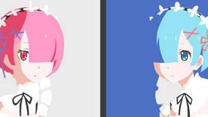 Rem and Ram Rezero by Yuki-Neh