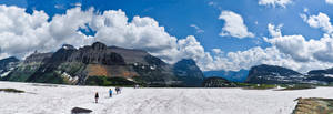 Logan Pass Pano by KRHPhotography