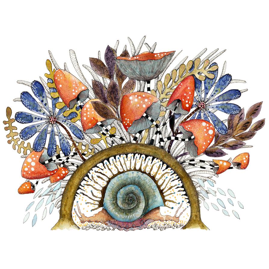 Snail-1850 by Gazounette