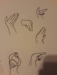 Hand practice by IceWingXeno