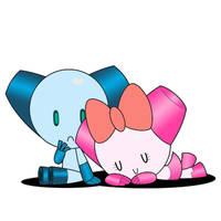 Robotboy and Robotgirl by jmusashi
