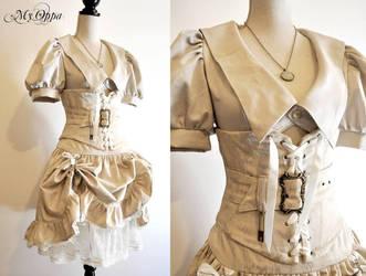 steampunk white by myoppa-creation