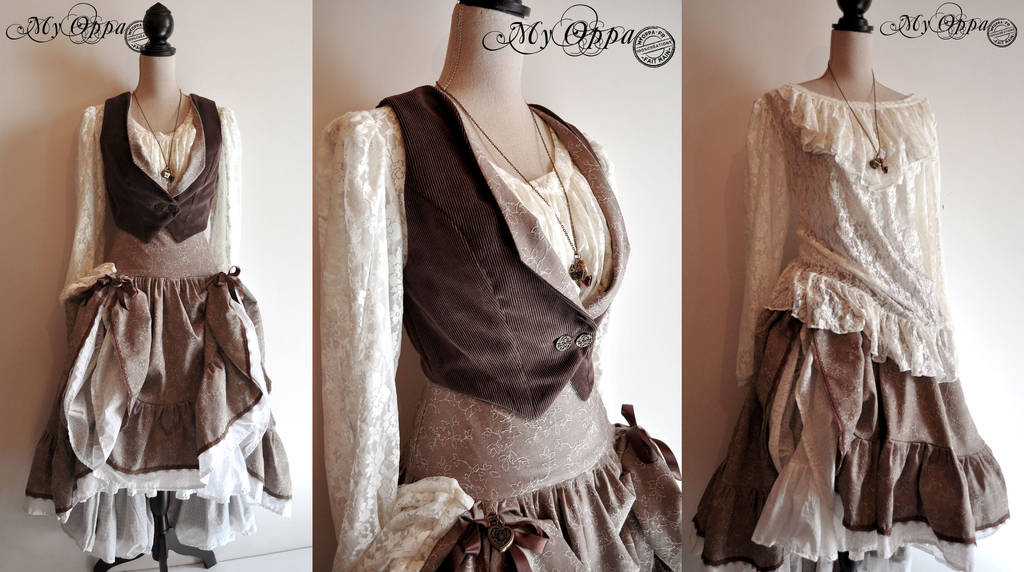 Spring dress steampunk :D by myoppa-creation