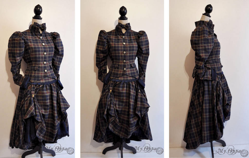 Amazone steampunk tartan by myoppa-creation