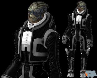 Garrus Vakarian Tuxedo Mod for XPS by Just-Jasper