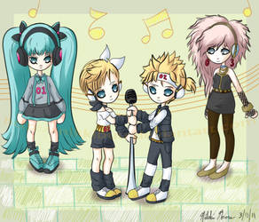 Vocaloids - 1980s by nikkibuu