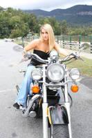 stock Blonde girl  Motorcycle by DeadEyeStock