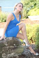 Stock Blonde Blue dress by DeadEyeStock