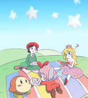 Princess Kirby picnic by Drone0