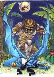 Predator vs. Gargoyle by MommySpike