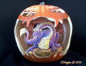 Dragon Pumpkin by MommySpike