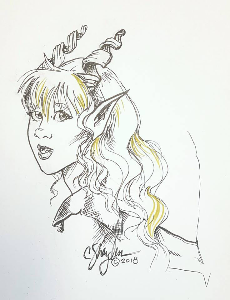 Inktober 2018: Asrial by MommySpike