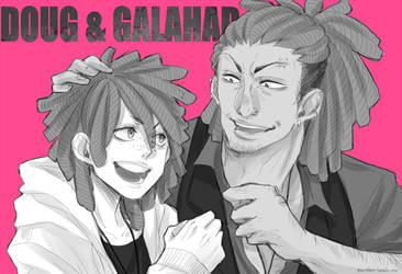 DOUG and GALAHAD by pearsfears
