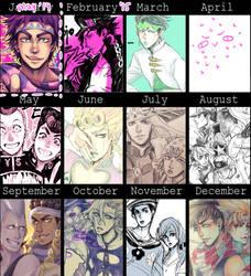 JJBA 2015 Art Summary by pearsfears