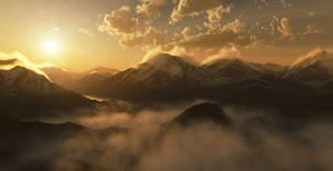 Alps sunrise by Smattila