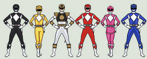 Mighty Morphin Power Rangers by vandersonmetal