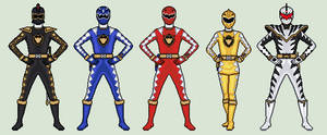 Power Rangers Dino Thunder by vandersonmetal