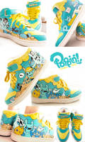 Pirate Bunny Sneakers by PoppinCustomArt