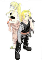 Edward Elric and Winry Rockbell (FMA) by CobraxKinana