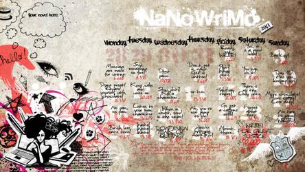 NaNoWriMo 2013 Calendar by LadyEntropy