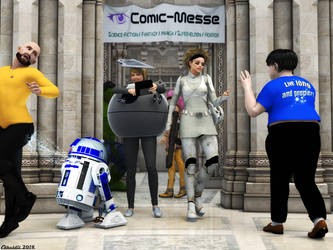 Comic convention by Edheldil3D