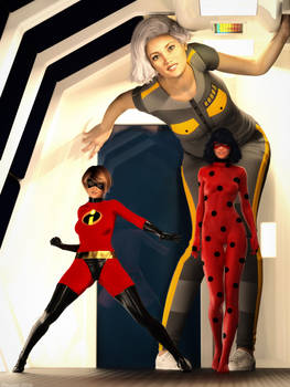 DAZplay: Susan, Helen and Marinette! by Edheldil3D