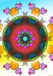 Happy Birthday Mandala by Edheldil3D