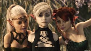 Three Little Elves by Edheldil3D
