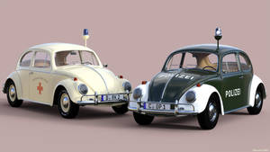 WIP: VW Beetle Textures - Polizei and DRK by Edheldil3D