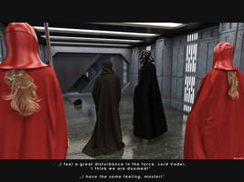 A great disturbance in the force! by Edheldil3D