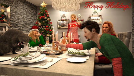 Happy Holidays! by Edheldil3D