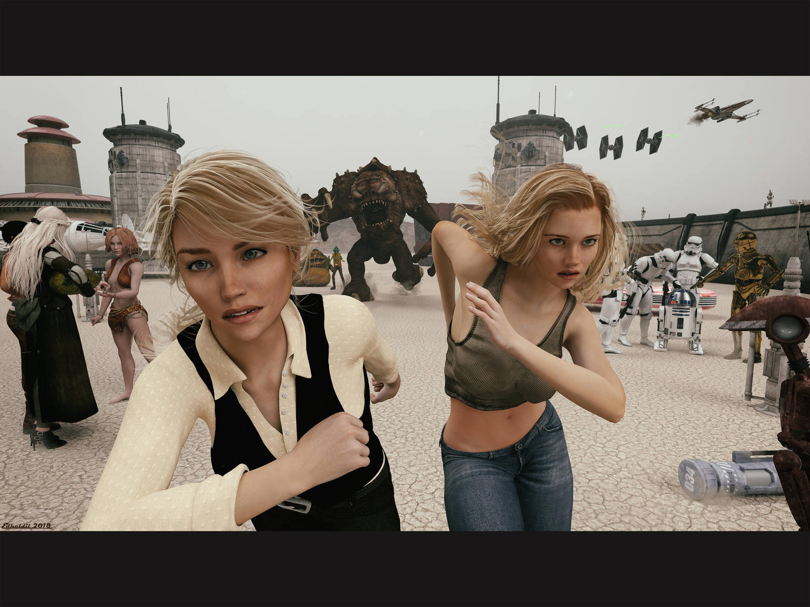 STAR GIRLS: The Escape From Tatooine! by Edheldil3D