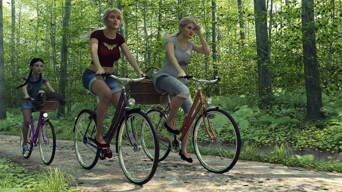 Bike Ride by Edheldil3D