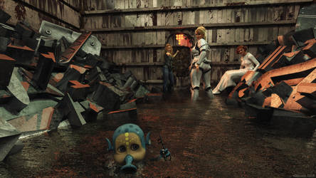 The swamp monster has the key! by Edheldil3D