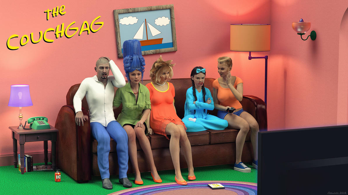The Couch Gag! by Edheldil3D