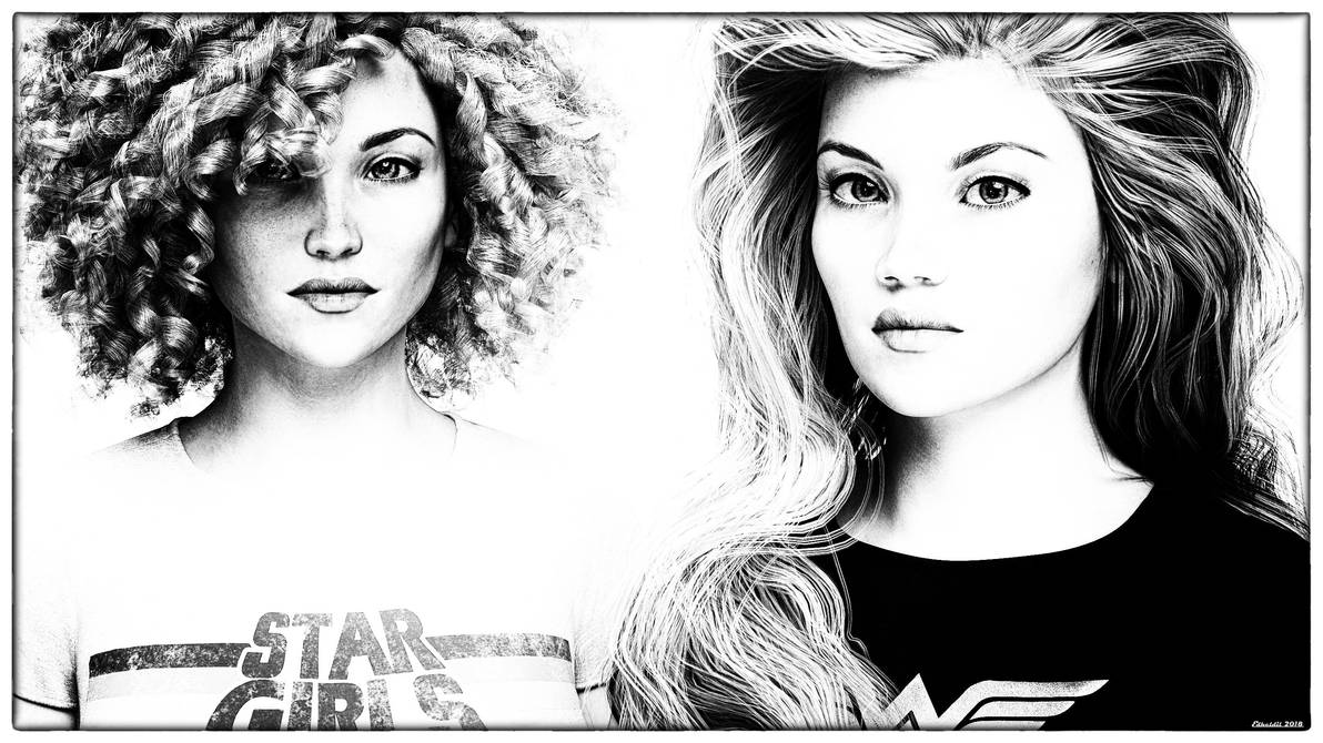 BW Portraits by Edheldil3D