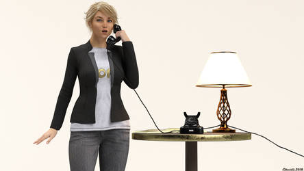 Unfinished work: The call! 03 by Edheldil3D