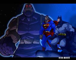 Worlds Finest vs Darkseid by Misterho