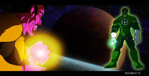 Green Lantern  v.s. Sinestro by Misterho