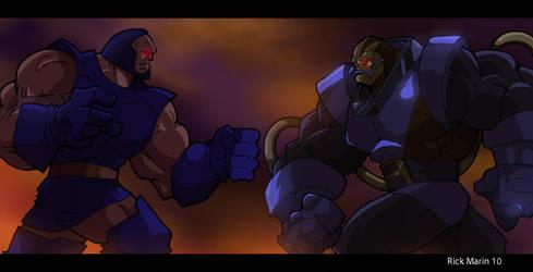 Apocalypse has a Darkseid by Misterho