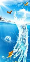 Hand of Water by DesignerKratos