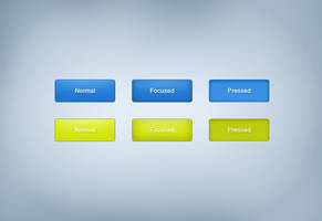 Blue and green buttons .psd by emrah-demirag