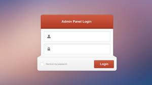 Admin Panel Login Page Free .PSD by emrah-demirag